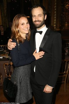 Ooh la la! Natalie Portman and husband Benjamin Millepied left their three-year-old son Aleph at home for a formal date in Paris Monday night