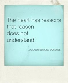 As with all matters of the heart, there is no reason. it just is.