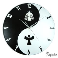 HORLOGE YIN ET YANG ANGE ET DEMON - Boutique www.magicreation.fr