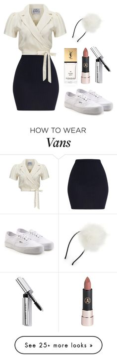 """Outfit #1816"" by ivanna1920 on Polyvore featuring Vans, Yves Saint Laurent, Anastasia Beverly Hills and Bobbi Brown Cosmetics"