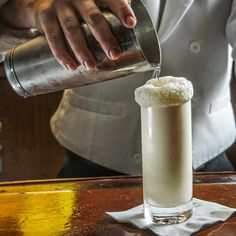 The famed Sazerac Bar at The Roosevelt Hotel in New Orleans shares the recipe for their milky morning tippling and breakfast drink--the Ramos Gin Fizz.