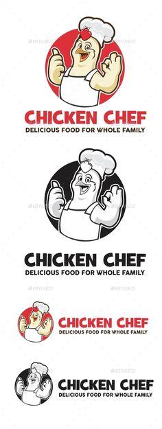 Chicken Restaurant Logos, Restaurant Logo Design, Food Logo Design, Logo Food, Logo Design Template, Logo Templates, Cafe Design, Chicken Vector, Chicken Logo