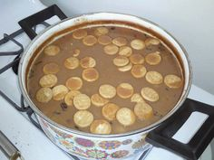 Dominican habichuelas con dulce dessert is traditionally made during a festive time! It is most commonly seen in all family dinners during the Lent /Easter or Good Friday! Grandma does it the best!