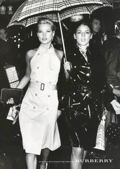 Kate Moss and Liberty Ross for Burberry, spring 2002