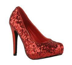 Emma high heeled sequin platform shoe