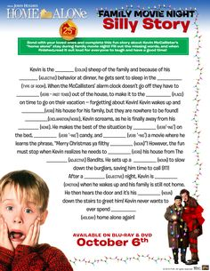 Home Alone: Ultimate Collector's Edition   Free Home Alone Activity Printables