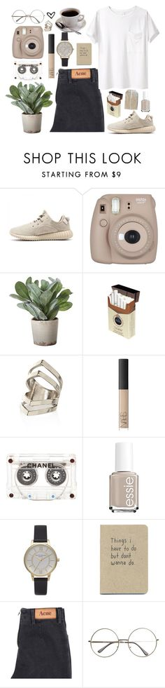 """coffee"" by annamausi ❤ liked on Polyvore featuring Torre & Tagus, River Island, NARS Cosmetics, Chanel, Essie, Olivia Burton, Acne Studios and AR SRPLS"