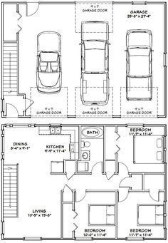 Build a Shed on a Weekend - Garage -- -- sq ft - Excellent Floor Plans Build a Shed on a Weekend - Our plans include complete step-by-step details. If you are a first time builder trying to figure out how to build a shed, you are in the right place! Carriage House Plans, Barn House Plans, Small House Plans, House Floor Plans, Barn Plans, The Plan, How To Plan, Garage Floor Plans, Barndominium Floor Plans