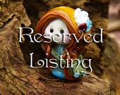 Reserved listing: Little Elf of the Hidden Forest Halls glass bead