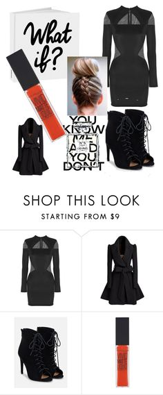 """""""If I had to wear Black forever."""" by kokoboutique77 ❤ liked on Polyvore featuring Balmain, JustFab, Chanel and Maybelline"""