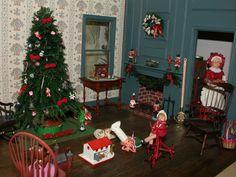 Studio B Miniatures: Vignettes: Christmas Room #2
