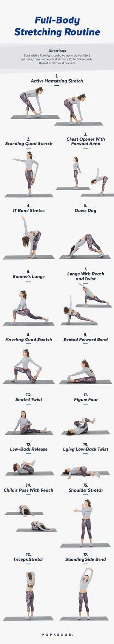 Print this stretch routine to remind to you STRETCH!