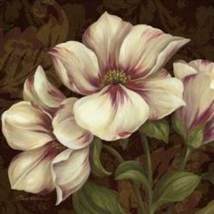 Art Print on Premium Semi-matte Photo Paper. China Painting, Tole Painting, Painting & Drawing, Art Floral, Pastel Art, Flower Pictures, Watercolor Flowers, Flower Art, Art Drawings