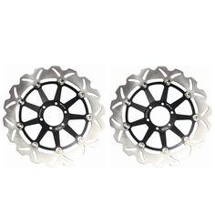Pair Front Brake Rotors Disc Braking Disks for Aprilia RSV 1000SP 1999-2000 SL1000 FALCO 2000-2004 TUONO 1000 FIGHTER 2002-2005