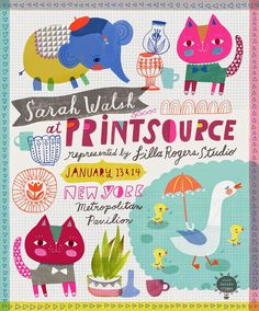 The art of Sarah and Colin Walsh: Printsource Ad