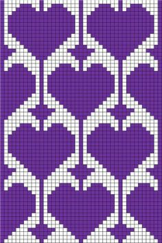 <3 fair isle knitting chart hearts