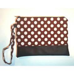 Zipper pouch pois #zipperpouch #handmadebySerena #diy Etsy shop : HandmadebySerena