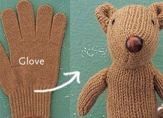 DIY squirrel made out of gloves Softies, Do It Yourself Inspiration, Do It Yourself Projects, Crafts To Do, Crafts For Kids, Arts And Crafts, Chipmunks, Craft Projects, Sewing Projects