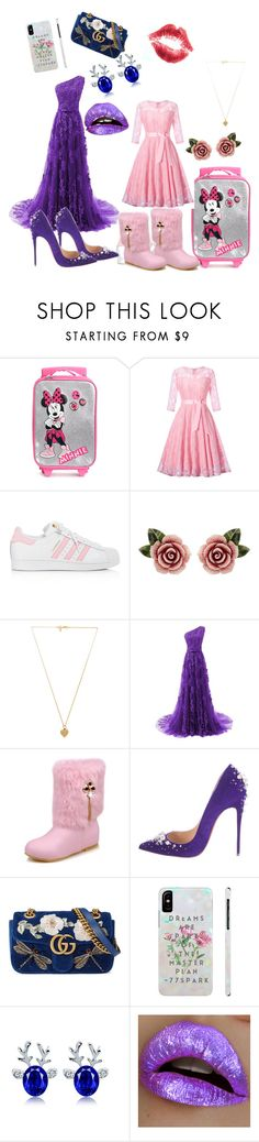 """""""Mom and daughter at batism"""" by adinapintea ❤ liked on Polyvore featuring adidas, Dolce&Gabbana, Vanessa Mooney, Christian Louboutin and Gucci"""