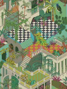 Geometricvon Cole & Son www.meinewand.de #britisch #englisch #design #tapezieren #vintage