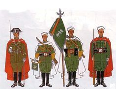 Compañía mixta de la Guardia de Franco Morocco, Spanish, Empire, Baseball Cards, History, Military Uniforms, Warriors, Aircraft, Vehicles
