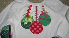 Sew T-Shirt I see cute Christmas shirts in the girls' future! Cute Christmas Shirts, Xmas Shirts, Ugly Christmas Sweater, All Things Christmas, Christmas Holidays, Ugly Sweater, Christmas Ideas, Christmas Clothes, Christmas Balls