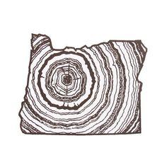 Oregon State Woodgrain Screenprint