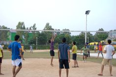 Students playing #volleyball in #Chandigarh #University