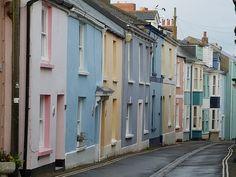 Appledore in North Devon, very pretty houses!