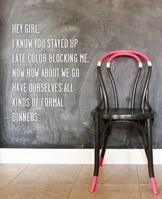 Hey girl, Want to color block some bentwoods? Click here to see how we did it.