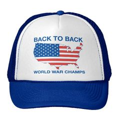 Cover your head with a customizable American Flag hat from Zazzle! Shop from baseball caps to trucker hats to add an extra touch to your look! Funny Hats, Custom Hats, Champs, World War, American Flag, Gifts For Mom, Royal Blue, Baseball Hats, Dads