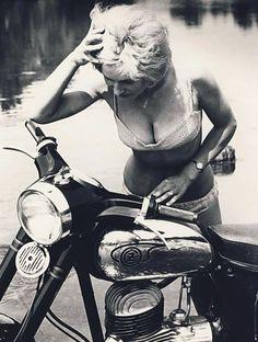 Jawa CZ motorcycle  Czechoslovakia, mid 1950s