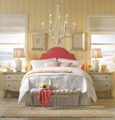 bedroom, coastal sty