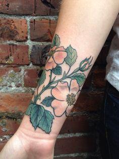 Wild roses by Alena Chun. Icon tattoo studio in Portland, Ore. Instagram: @alenachun icontattoostudio.com
