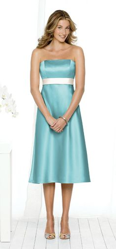 This would be a great bridesmaid dress. I'd want it in black with a red sash.