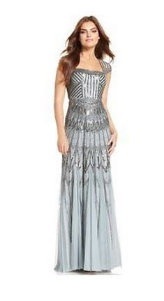 Sequin gown dress gray silver  Available at the Store Très Chic