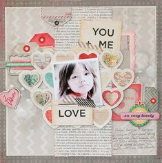 S-photo time: Crate Paper Tutorial: 3D Heart layout