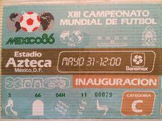 Un día como hoy hace 30 años fue la inauguración del Mundial México 86, en el Estadio Azteca, excelente  experiencia