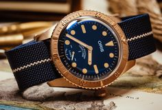 *Blog Update - Read iN!* #Oris 40mm Carl Brashear Cal 401 Limited Edition⌚️🌊 Divers Watch iN Bronze with Blue Textile Elastic Strap!!🎉