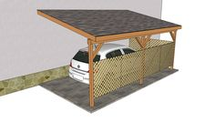 Image Detail for - Attached carport plans | Free Outdoor Plans - DIY Shed, Wooden ...