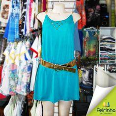 A tendência do verde-água está presente nesse outono-inverno! E olha que lindo esse vestidinho por apenas R$ 20,00!   #tendência #outonoinverno #feirinhadaconcórdia