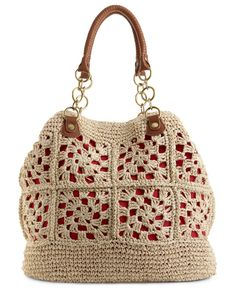 Bolsa de crochê, muito linda. Amei. E é fácil de fazer.