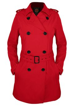 Women's Trench Coat from SeV, now in red!