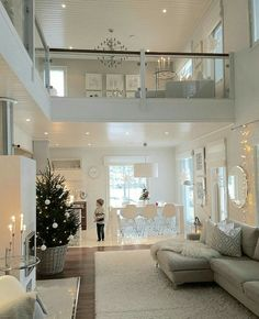 Very light and airy, bright living room. - Very light and airy, bright wo . Home Living Room, Living Room Designs, Home Interior Design, Interior Architecture, Appartement Design, Modern House Design, House Rooms, My Dream Home, Dream Homes