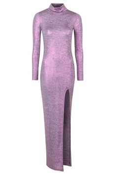 **Purple Metallic Maxi Dress by Jaded London