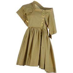 BERNHARD WILLHELM striped dress ($715) ❤ liked on Polyvore