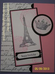 Stamping Hare...retiring stamp sets card class featuring Stampin' Up's! Artistic Etchings stamp set. inspired by Christina Wedell's card. #stampinup #diy #happybirthday #eiffeltower