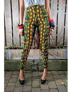 Love these African-inspired pants. Where in the world would you buy these at except in Africa? Seriously though...does anybody know?