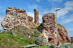A View of Dunbar Castle from the Landward End. It played a significant role in Scottish history, including Battles, the alleged kidnap and rape of Mary Queen of Scotland by the Earl of Bothwell. The humorous story of 'Black Agnes' who mocked the professional English soldiers who bombard the walls, and Black Agnes with her maids dusted down the damage to her walls. To the many other battles around Dunbar. (See my short picture musical video pinned here)