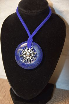 Collier Lapis lazuli - Soleil Lapis Lazuli, Washer Necklace, Jewelry, Natural Stones, Hand Made, Cords, Sun, Necklaces, Jewlery